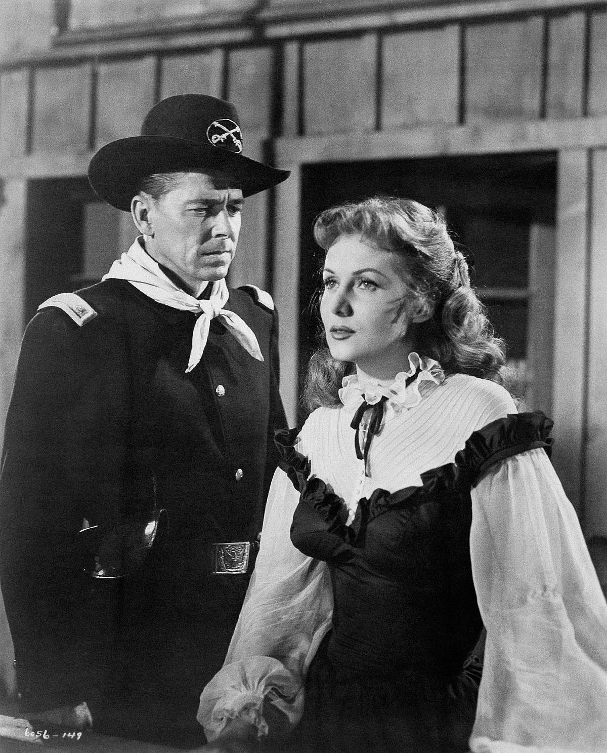 1951  Reagan performs with Rhonda Fleming in The Last Outpost.  Image: Mondadori/Getty Images