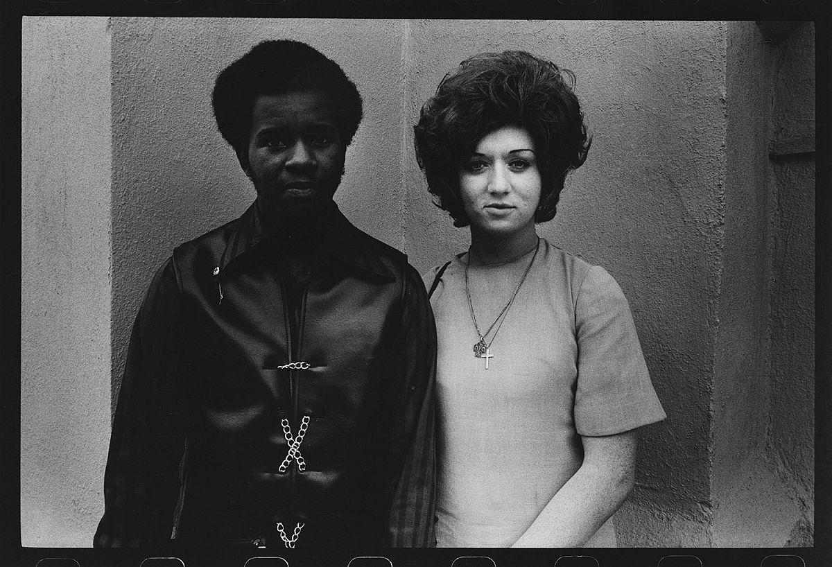 Couple in Front of Church, Los Angeles, 1970.