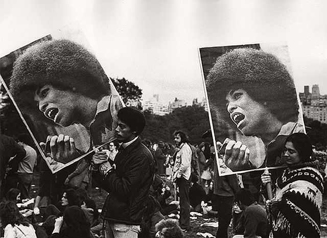 Beuford Smith, Angela Davis demonstration, Central Park, NY, 1972