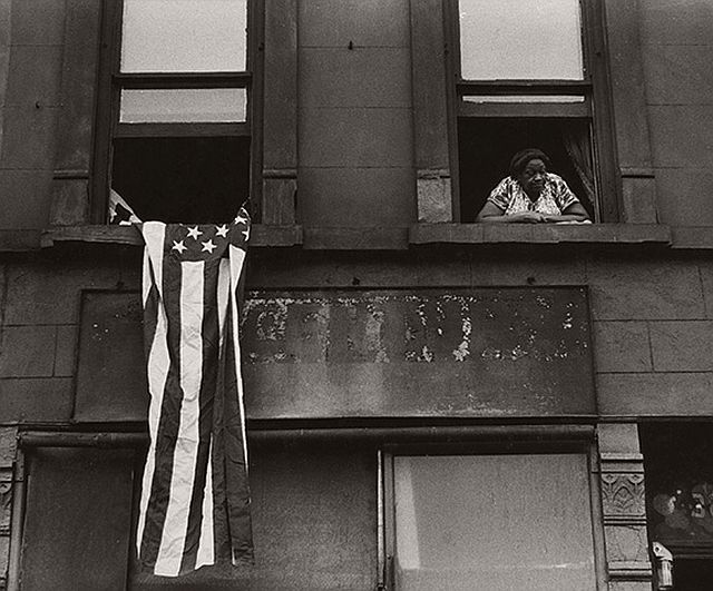Beuford Smith, Flag Day, Harlem, 1976