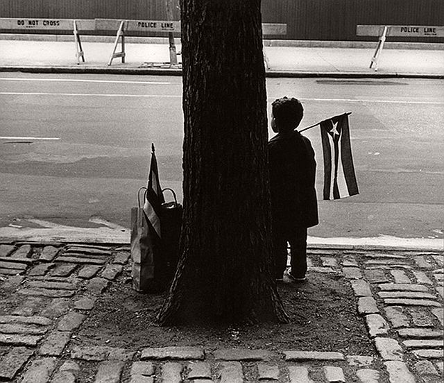 Beuford Smith, Boy Holding Flag, 1966