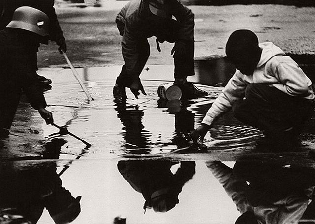 Beuford Smith, Reflection #1, Harlem, 1965