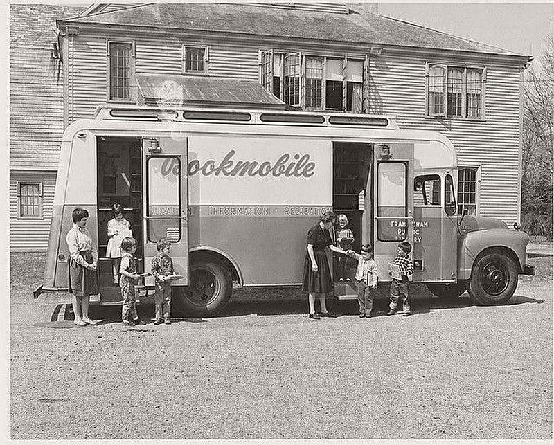 Framingham Public Library Bookmobile, Mass., 1956
