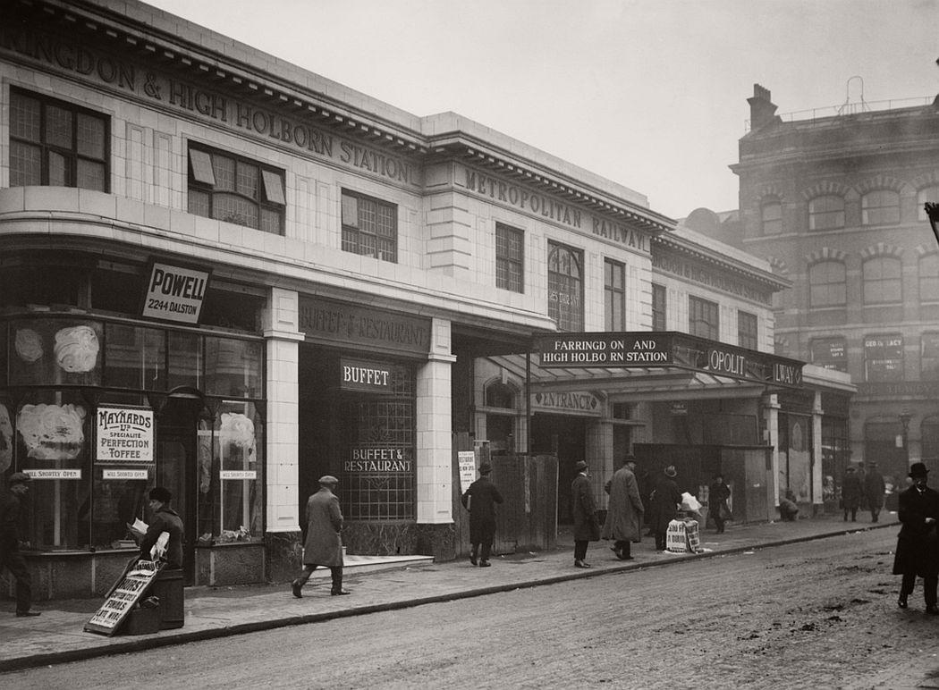 Farringdon Street (Farringdon) Station in March 1924.