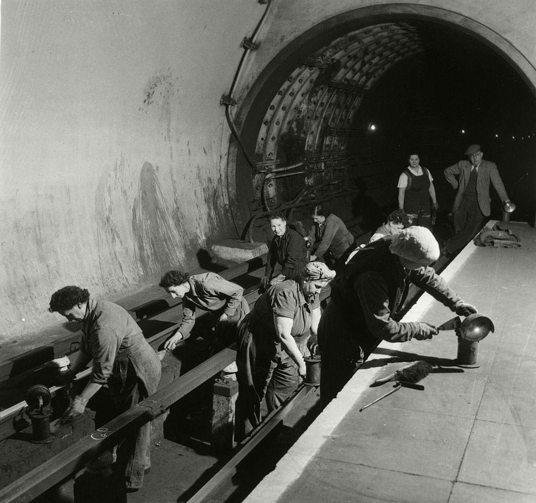 Underground fluffers, 1954.