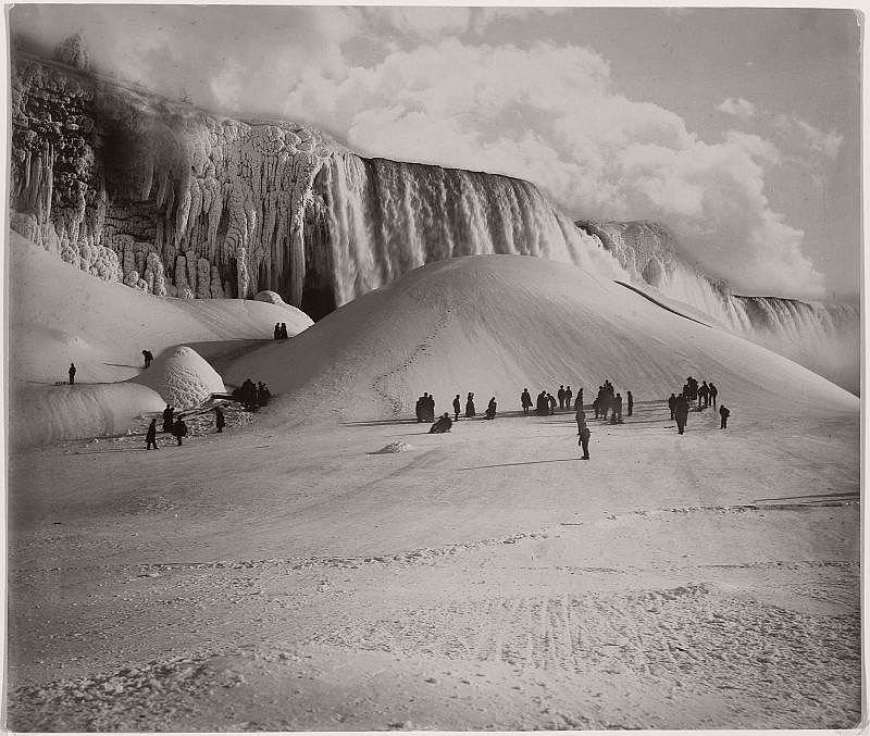 Frozen Niagara Falls, 1885