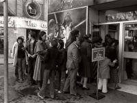 Vintage: People Waiting in Line for Star Wars (1977)