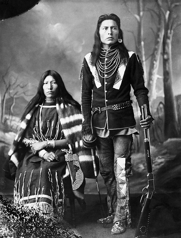 First Nations man and his wife, 1886
