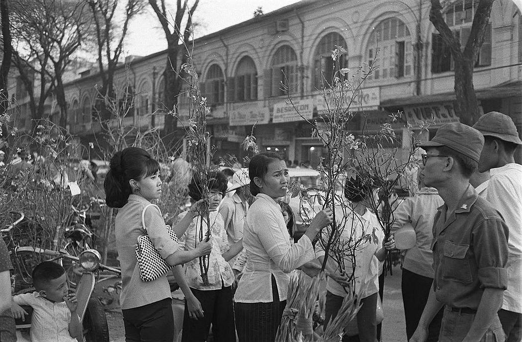 The Tet including the flower market, Saigon, ca. 1965-66