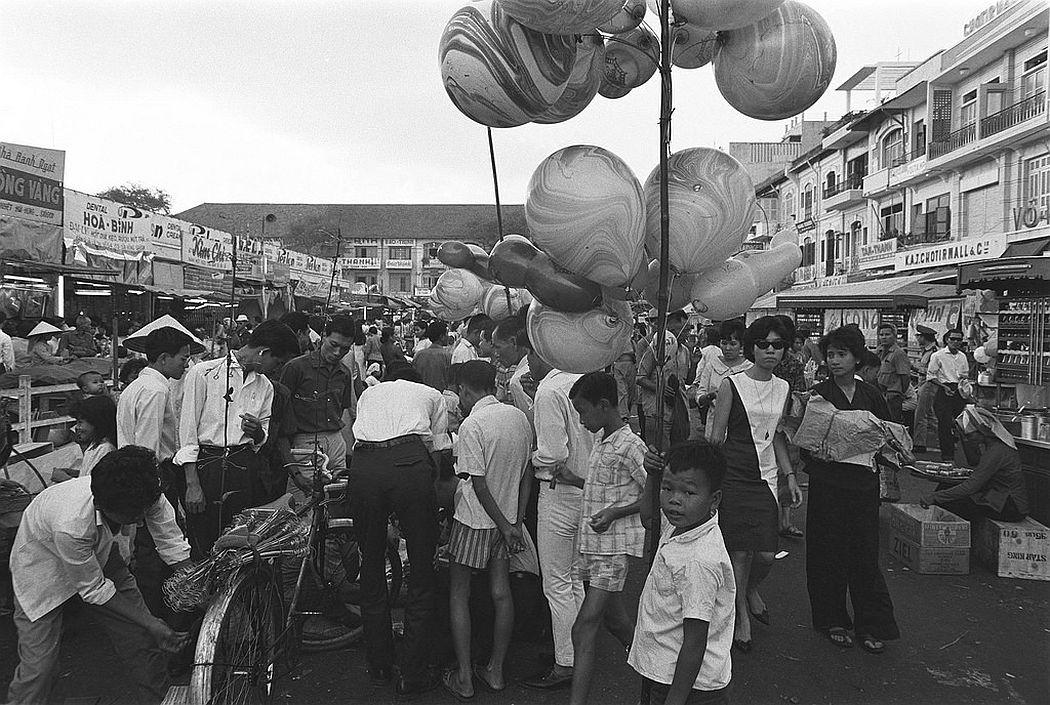 The traditional Tet Flower Market on Nguyen Hue Boulevard, Saigon, 20 January 1966