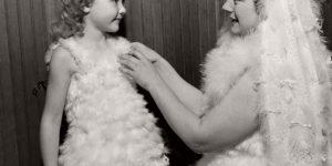 Vintage: Women Dressed in Turkey Feathers (1948)