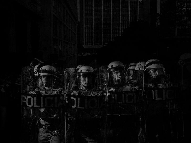 Scene #8040, Sao Paulo, Brazil, Police, June 17, 2014