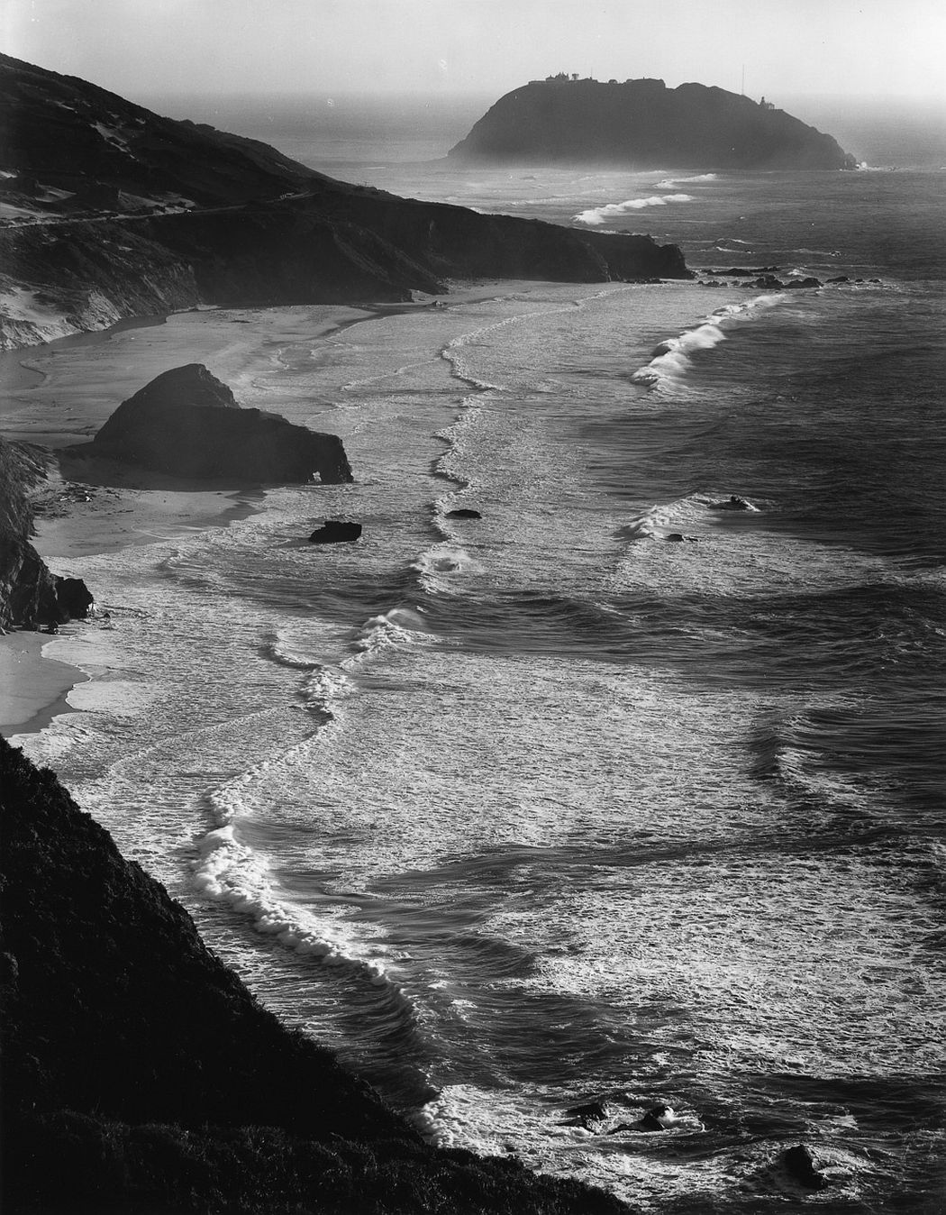 Ansel Adams. Point Sur, Storm, Big Sur, CA, 1946. Images printed courtesy of the Ansel Adams Publishing Rights Trust