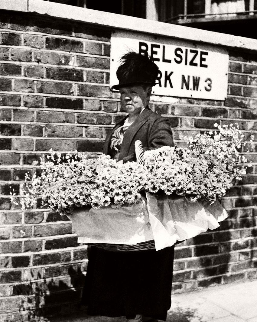 Flower Seller in Hampstead, 1931-1935.