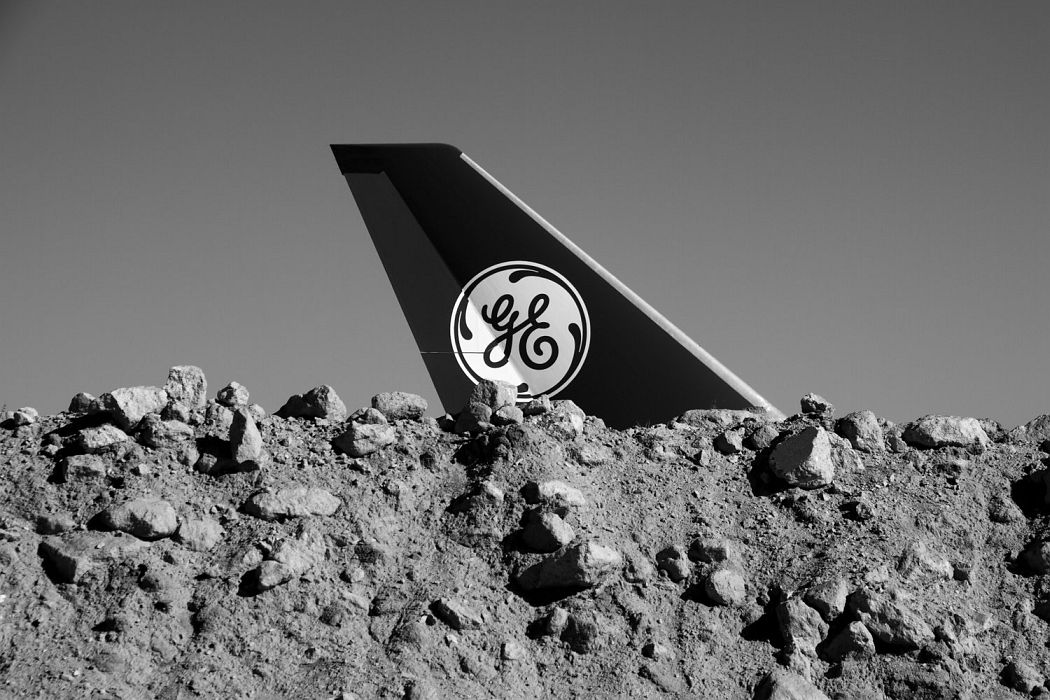 GE 747 Propulsion Test Jet + Rock Mound, Mojave Desert, California, 2016