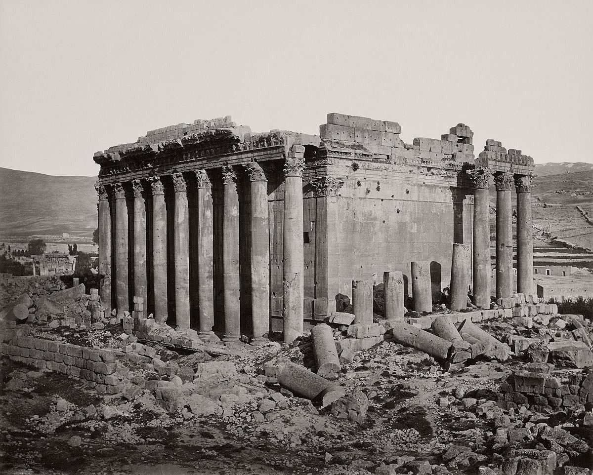Francis Bedford (1815-94) (photographer) The Temple of Jupiter from the north west [Baalbek, Lebanon] 3 May 1862