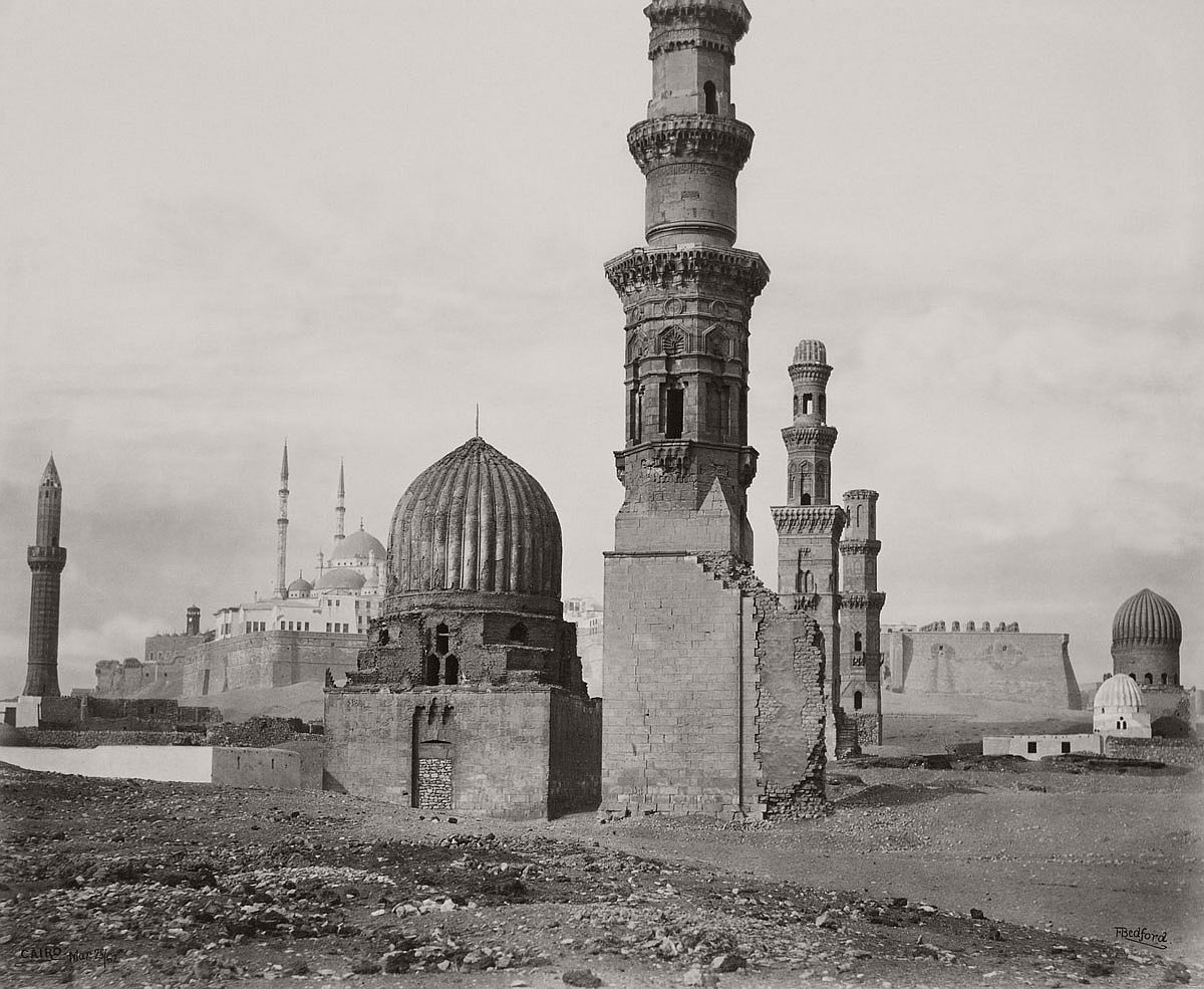 Francis Bedford (1815-94) (photographer) Tower of Galata and part of Turkish burial ground [Istanbul, Turkey] 21 May 1862