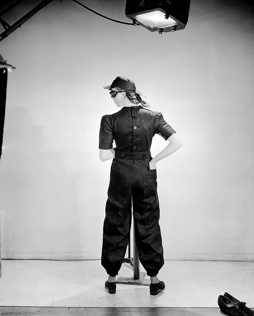 Lee Miller, Fashion for factories, Vogue UK London-England, June 1941, © Lee Miller Archives