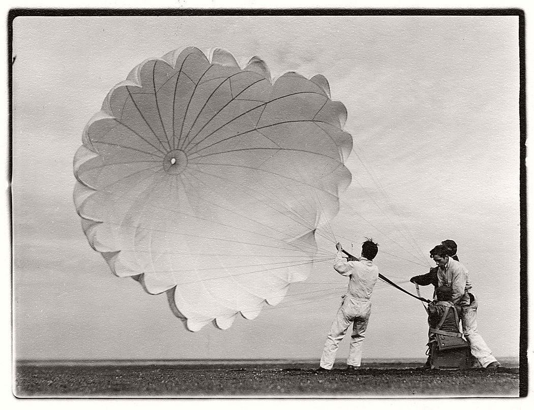 Margaret Bourke-White  Untitled #76 (Twenty Parachutes), 1937