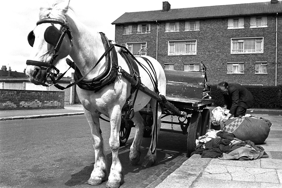 Rag and bone man on his rounds in the East End.