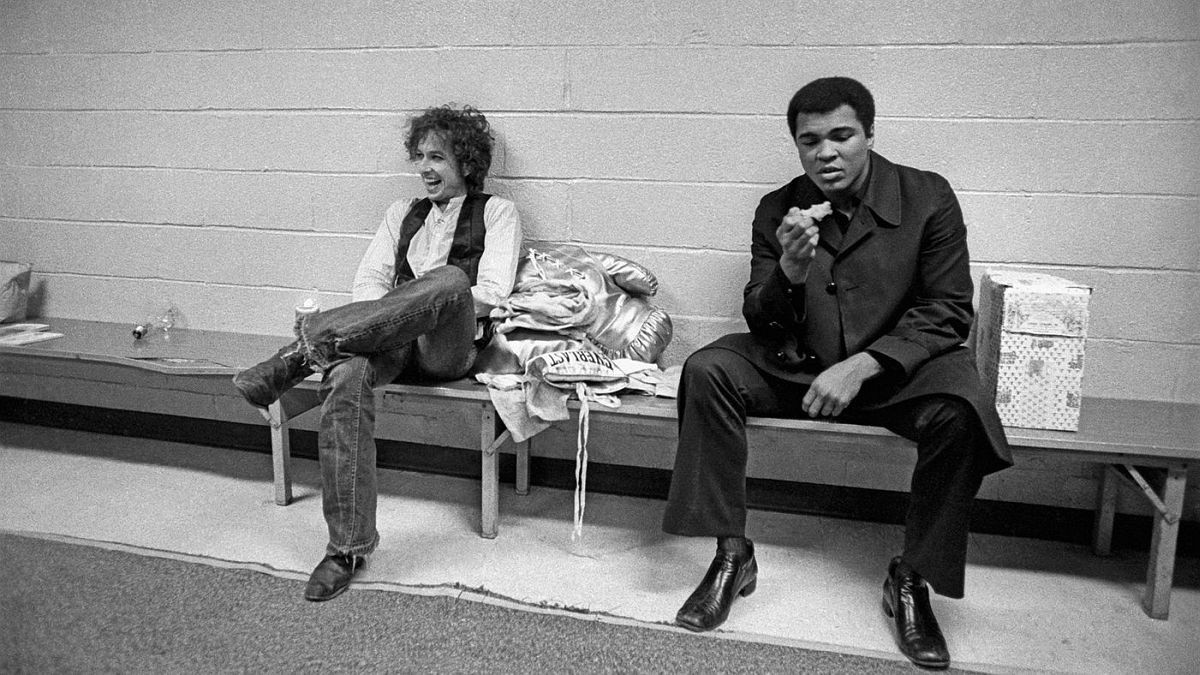 Muhammad Ali visited Dylan backstage when the tour reached Madison Square Garden.
