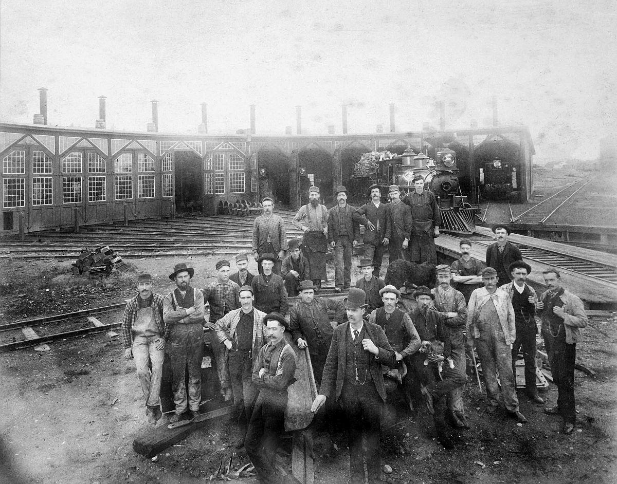 Canadian Pacific Railway crew at Donald, British Columbia. Date: [ca. 1887-1889]