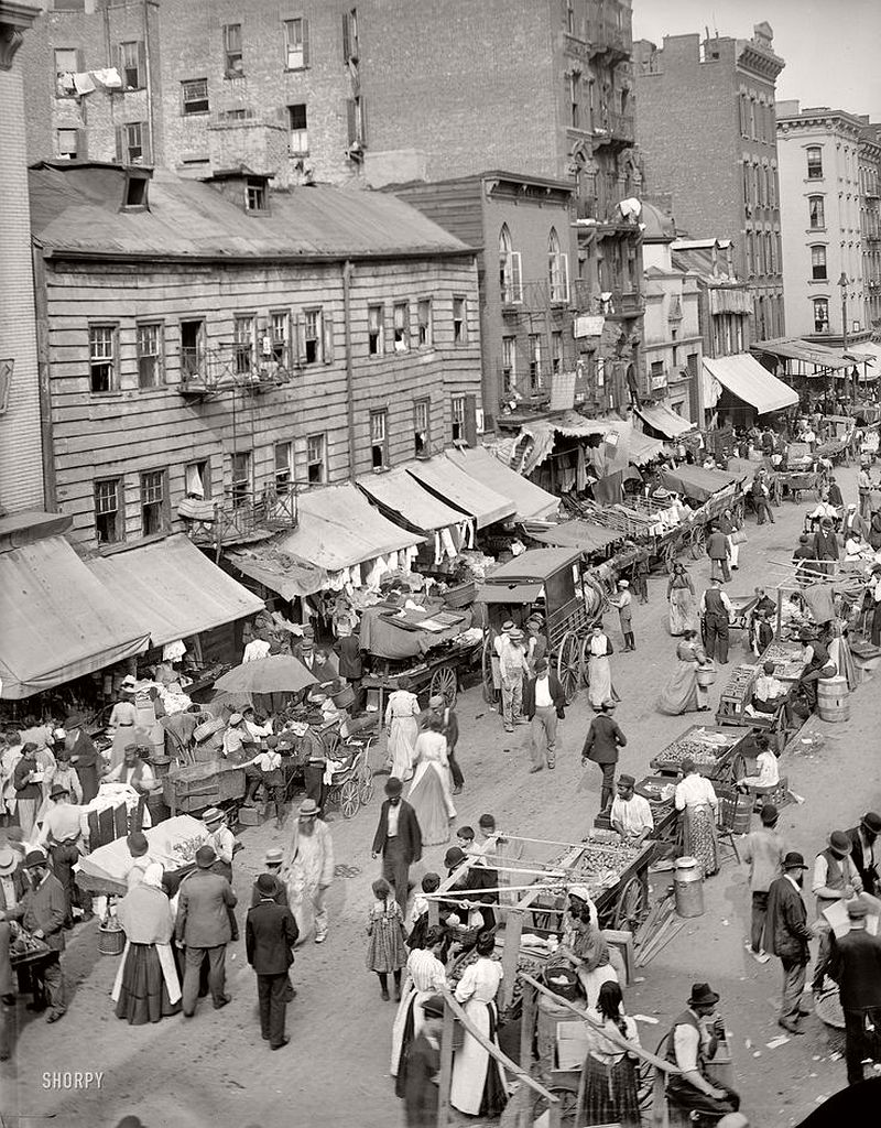 Jewish market on the East Side, New York City, ca. 1900