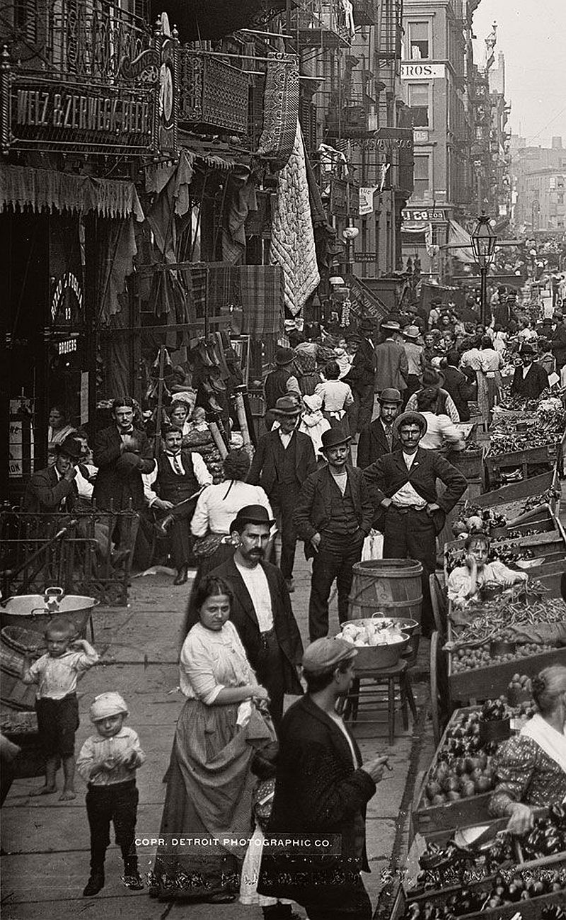 Mulberry Street, New York City, 1900