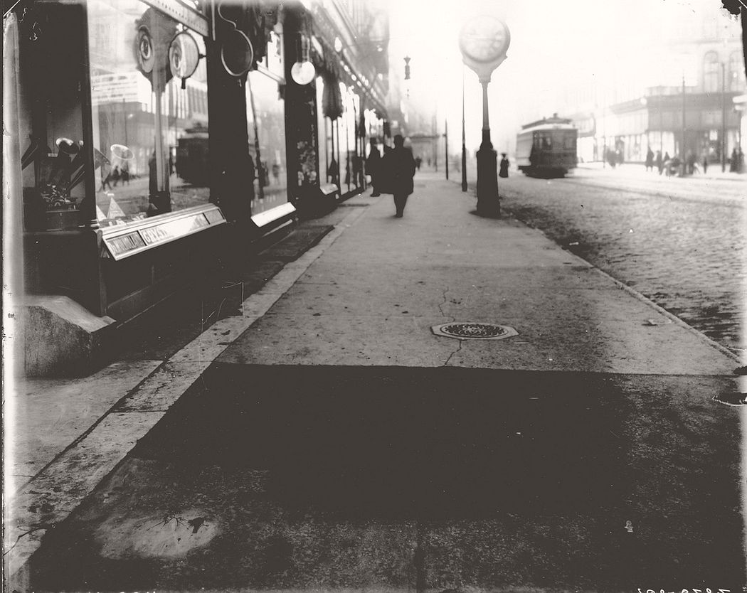 Sidewalk in front of 1006 Olive Street, ca. 1900s