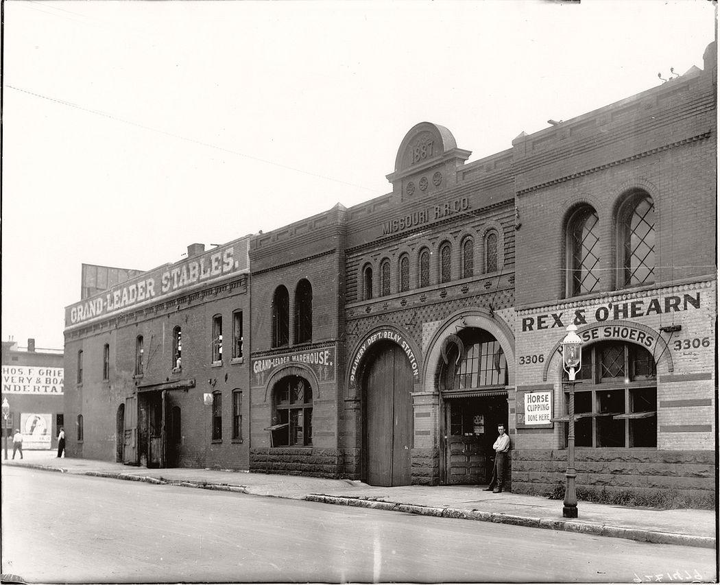 Southwest corner of Leonard Avenue and Locust Street, ca. 1900s