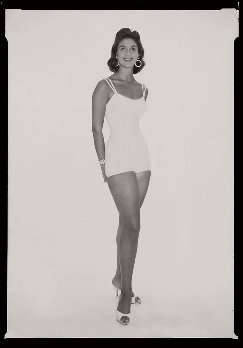 Women in One Piece Swimsuits in the 1950s