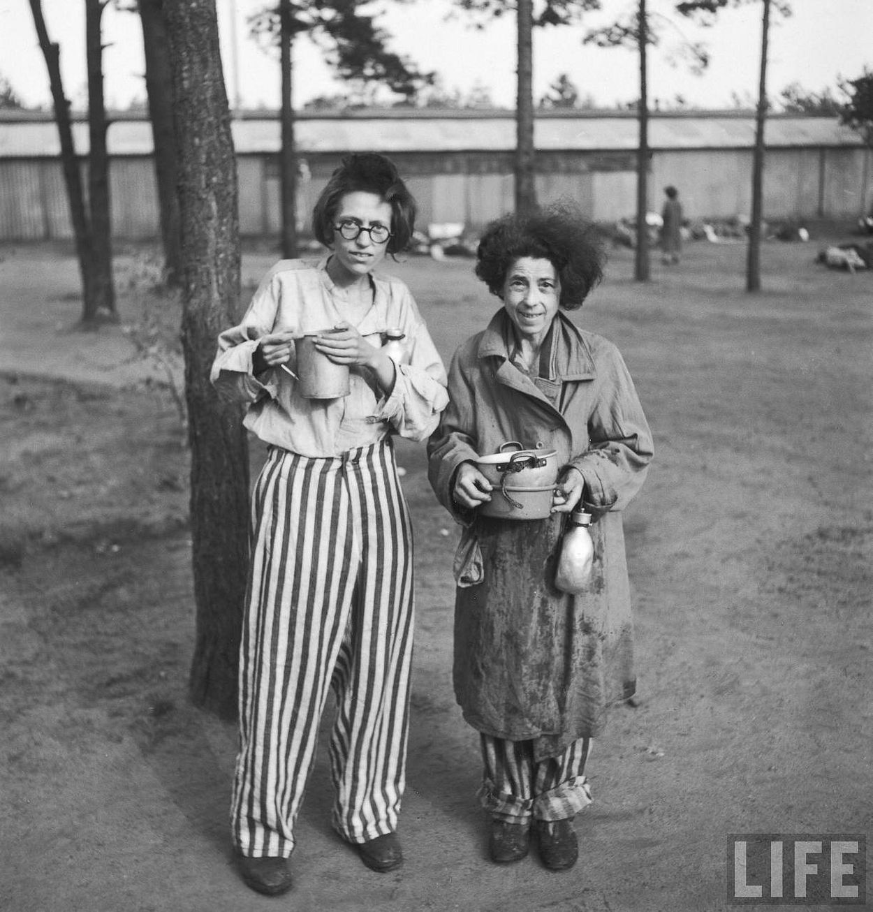 Female prisoners in the newly liberated Bergen Belsen concentration camp.