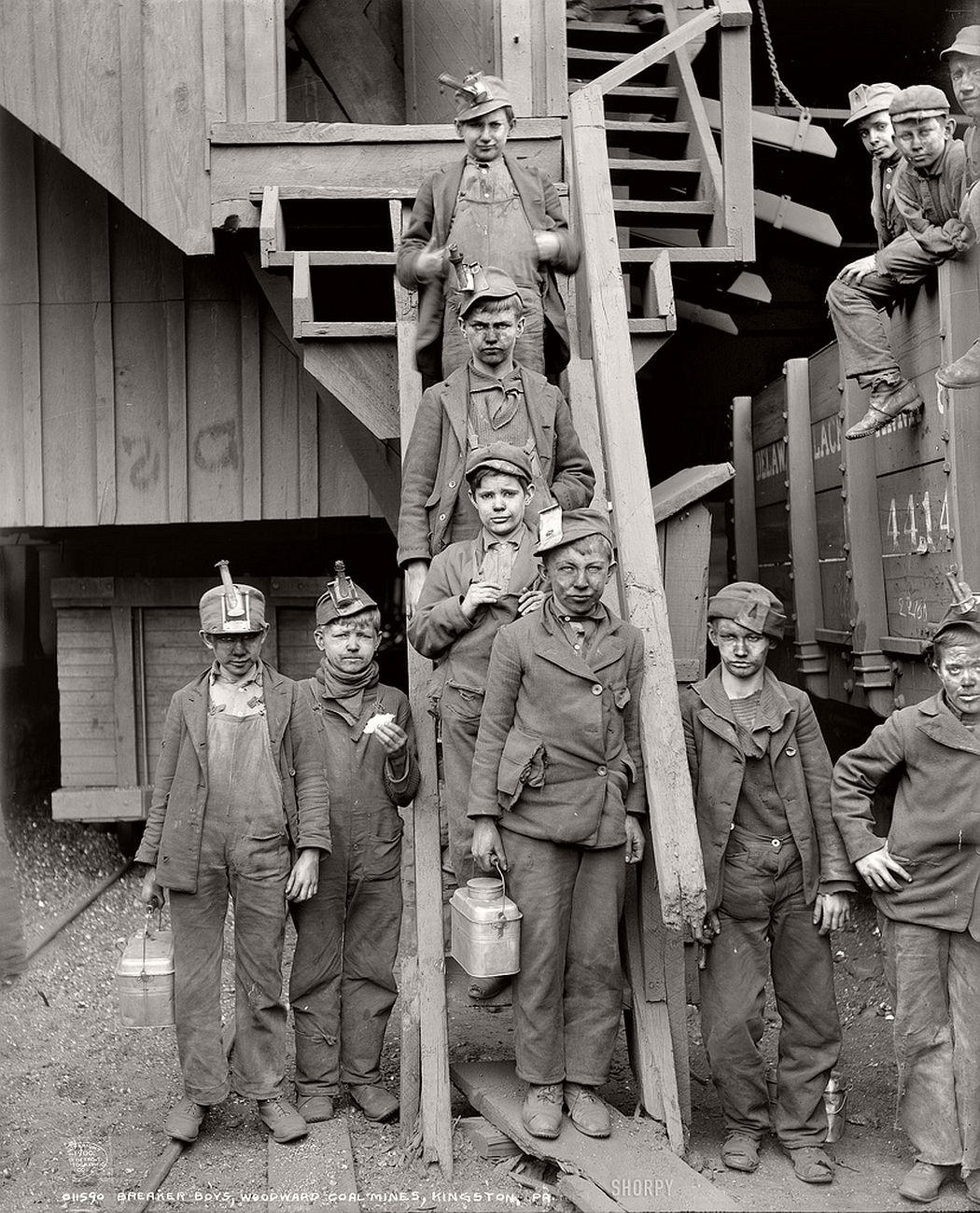Coal breakers in break-time, Pennsylvania, 1911