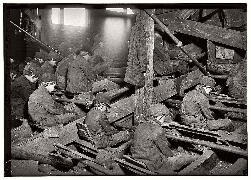 Coal breakers, South Pittston, Pennsylvania, January 1911