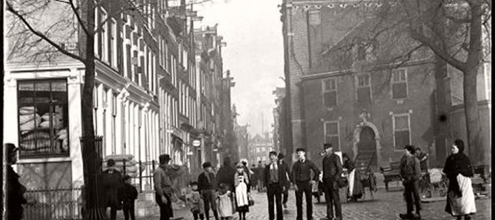 Vintage: Amsterdam in Victorian Era by Jacob Olie (1890s)