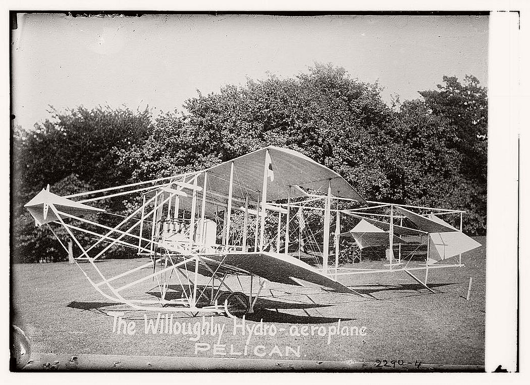 The Willoughby Hydro-aeroplane. Pelican, ca. 1910-1915.