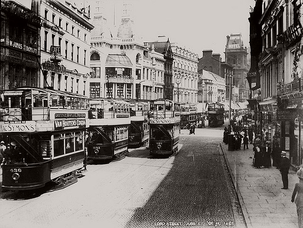Lord Street looking towards Church Street, June 1908