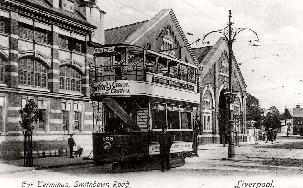 Car terminus, Smithdown Road, Liverpool, ca. 1920s