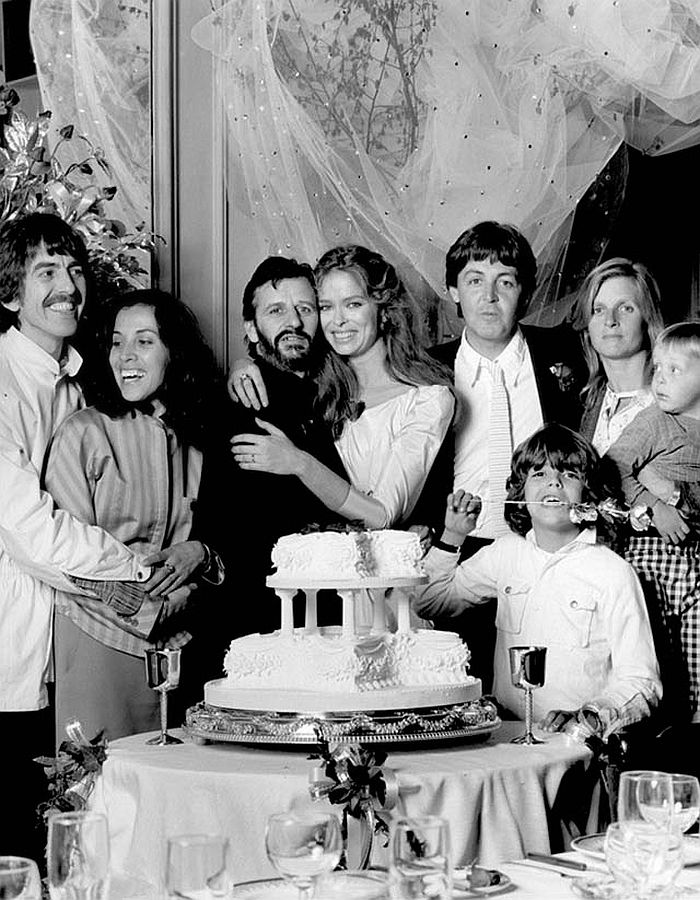 The wedding of Ringo Starr and Barbara Bach