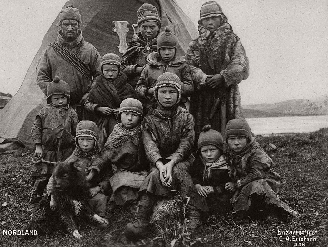 Sami family in Nordland Norway early 1900