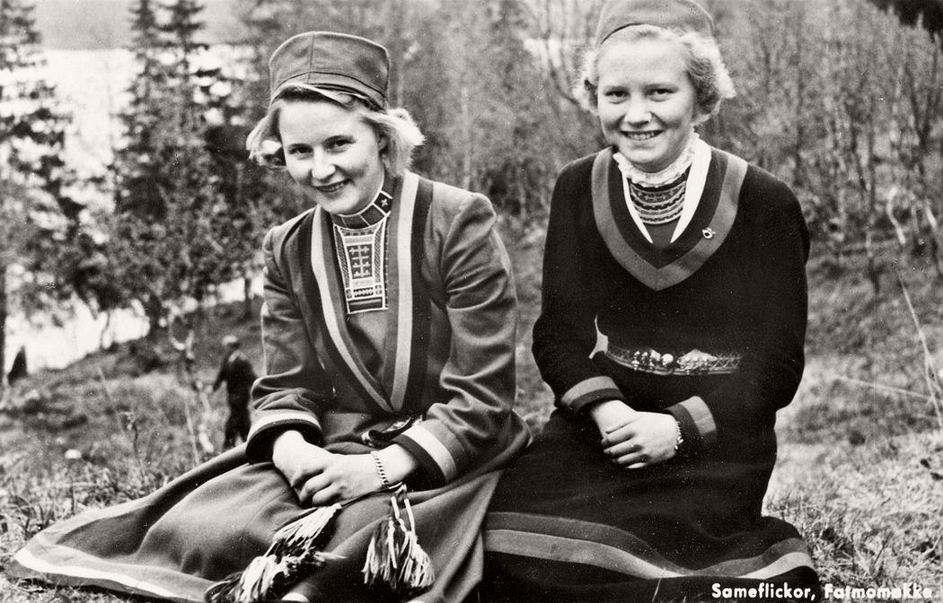 Sami women from Fatmomakke Västerbotten Sweden