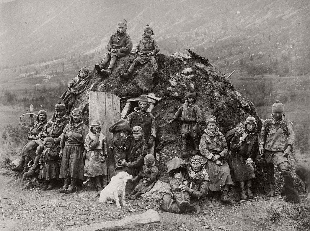 Northern Sweden Nomad Sami people about 1880