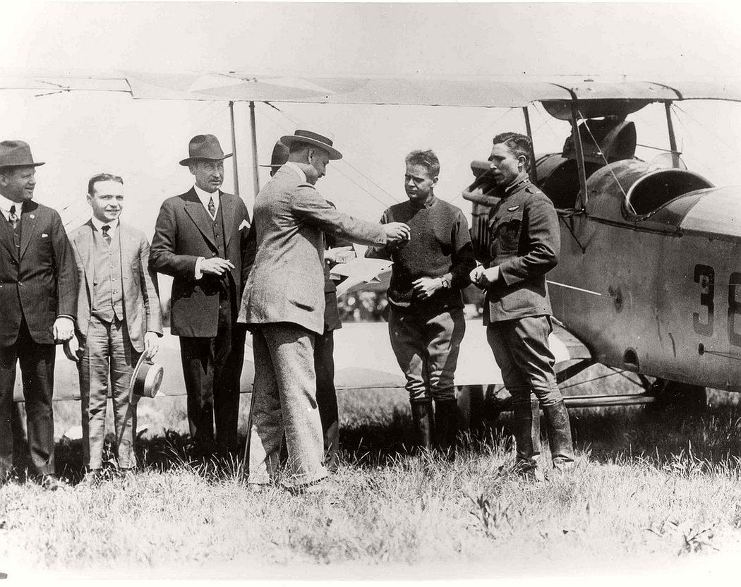 First day of the U.S airmail service, May 15, 1918