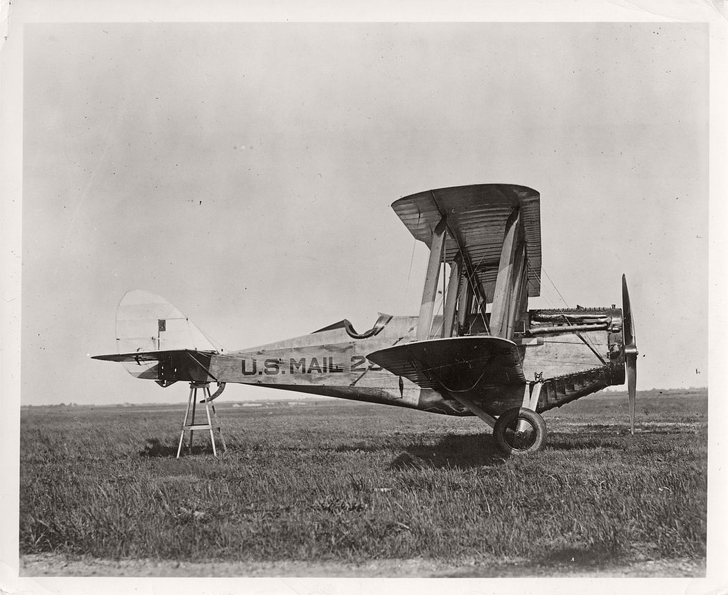 A modified de Havilland airmail plane with number #299, 1920