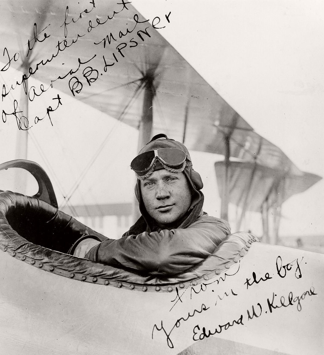 Airmail pilot Edward Killgore, 1918