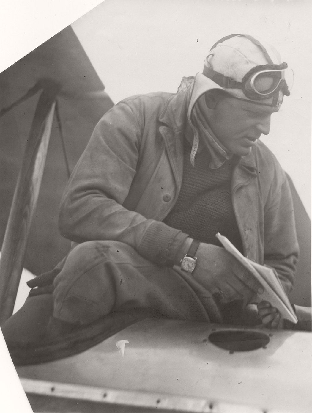 Airmail pilot William Fillmore, 1925