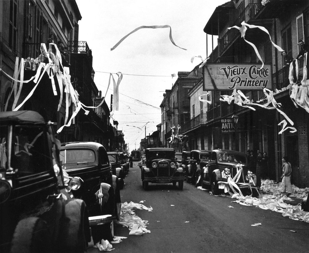 Tee-Peeing the Vieux Carré, Mardi Gras, New Orleans, 1937