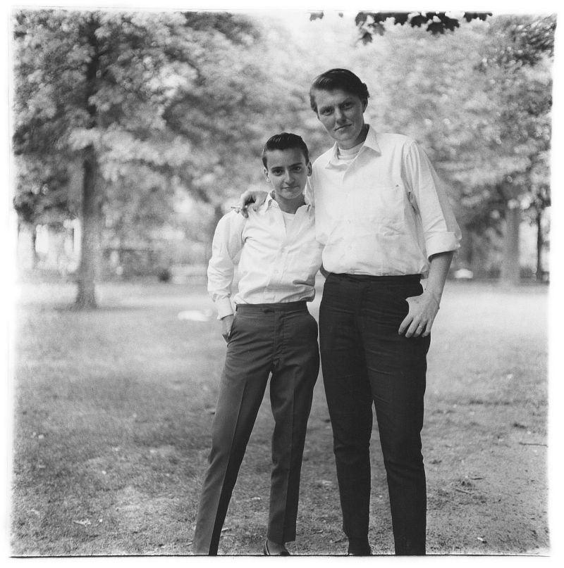 Two friends in the park, N.Y.C. 1965 © The Estate of Diane Arbus