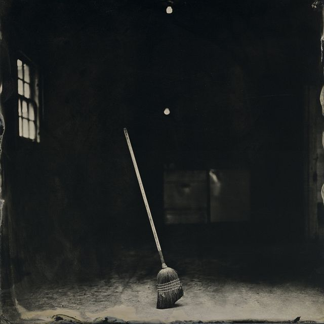 Frank Hamrick (Ruston, LA) Standing Broom, 2016, from the series Harder than Writing a Good Haiku, tintype, Frank Hamrick