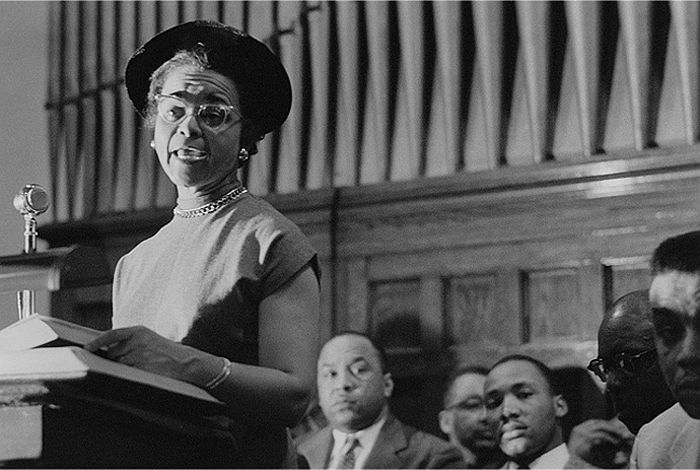 Rosa Parks, Dexter Avenue Baptist Church, December, 1955